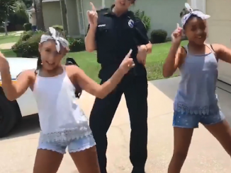 JSO police officer accepts the lip sync challenge