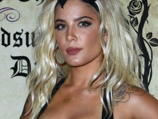 Halsey sizzles in lingerie for Playboy party