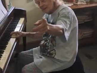 104 Year Old School Teacher Playing Beethoven
